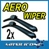 "New 22"" 19"" Flat Aero Front Hooked Car Wiper Blades Windscreen Window Set"