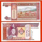 MONGOLIE billet neuf de 20 TUGRIK Pick55 CHEVAUX SUKHLE BATAAR GENGIS KHAN 1993