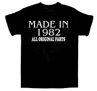 Made in 1982 BIRTHDAY T-SHIRT All Original Parts Birthday Gift Idea Choose size