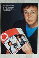PAUL McCARTNEY (Beatles/Wings) - Magazine Poster