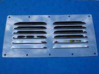 "STAINLESS STEEL MARINE GRADE 9""  x  4 1/2""  LOUVERED VENT"