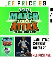 MATCH ATTAX 10/11 CHOOSE ANY SHOWBOAT CARDS 1 - 20
