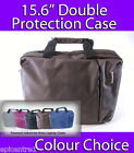 "KNOX 15.6"" CLAMSHELL LAPTOP CASE NOTEBOOK BAG CHOCOLATE BROWN DOUBLE PROTECTION"