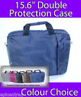 "KNOX 15.6"" CLAMSHELL LAPTOP CASE NOTEBOOK BAG MIDNIGHT BLUE DOUBLE PROTECTION"