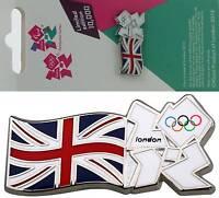 Team GB Union Flag with Union Jack  London 2012 Olympic Logo Tie Coat Pin Badge