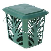 Vented Kitchen Compost Caddy - Green - for Food Waste Recycling (7 Litre) 7L Bin