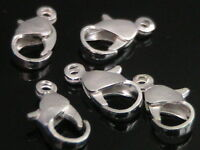 15 x 12mm Silver Plated Lobster Clasps Beads Findings Clasp J12