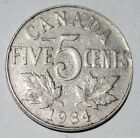 Canada 1934 5 Cents George V Canadian Nickel