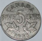 Canada 1935 5 Cents George V Canadian Nickel