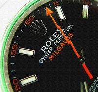 ROLEX OYSTER PERPETUAL MILGAUSS BLACK DIAL GREEN GLASS - 116400 VBKO