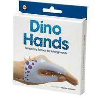NPW Temporary Hand Tattoos Dino Hands Talking Hands Instructions Included  Gift