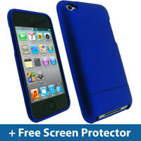 Blue Hard Case for Apple iPod Touch 4th Gen 4G Bumper iTouch Cover Holder