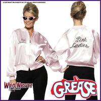 Licenced Grease Pink Lady Ladies 1970's TV Film 70s Jacket + Scarf Set