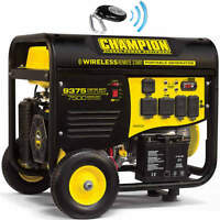 New Champion 9500 watt Gas Portable Gasoline Generator Carb Electric Start