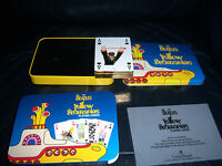 THE BEATLES OFFICIAL DELUXE YELLOW SUBMARINE GILT EDGED BOXED  PLAYING CARDS !