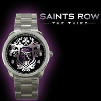 Saints Row The Third Video Games XBOX 360 PS3 Metal Sport Watch Fit With Shirt