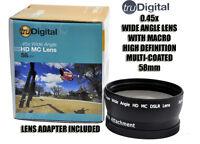 TRU DIGITAL 58mm 0.45X Wide Angle Lens HD MC for CANON 18-55MM T3i T3 T2i 60D 7D