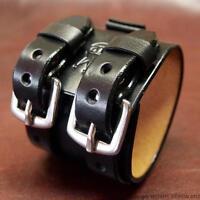 Leather Watchband Johnny Depp Cuff Vintage Bracelet