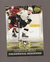 Sidney Crosby Rookie Upper deck 2006 Phenomenal Beginings Card #2