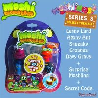 Moshi Monsters Series 3 5 Figure Moshlings Pack 11 inc Code Agony Ant Lenny Lard