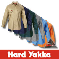 Hard Yakka Cotton Drill Shirt Long Sleeve Y07500 - All Colours