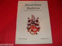 Ricardian Bulletin Magazine of the King Richard III Society Autumn 2005
