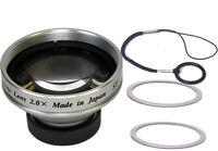 2.0X Telephoto Lens for Flip Video Ultra Mino MinoHD UltraHD SlideHD