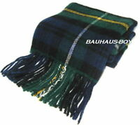 TARTAN CLAN NECK SCARF IN CAMPBELL OF ARGYLL TARTAN 100% PURE LAMBS WOOL NEW
