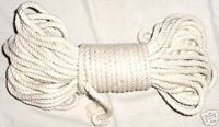 "1/4"" NATURAL 100% COTTON ROPE - 25 FEET, medium bird toy toys parts"