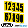 Go Kart Race Numbers -  8 x Quality Adhesive Sticker Numbers