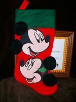 MICKEY & MINNIE MOUSE DISNEY CHRISTMAS STOCKING