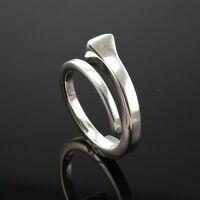 GUCCI STERLING SILVER LADY'S WRAP RING size 11 made in Italy