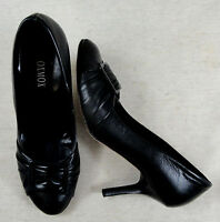 Tolle OXMOX Pumps High Heels Slipper Schuhe Leder schwarz Gr. 37 ca. 4 Top !!!