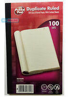Pukka Pad Duplicate 100 Sets Index Ruled Paper Book Serially Numbered 216x130mm