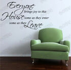 "Wall stickers ""everyone bring joy"" Quote Removable Art Vinyl Decor Home Au decal"