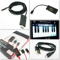 1.8M 3M 2M MHL Adapter Micro to HD HDMI USB Cable for Galaxy S2 i9100 Note HTC