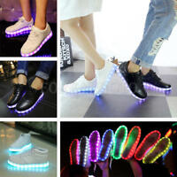 Hot Unisex LED Light Lace Up Luminous Mens Women Shoes Sportswear Sneaker Casual