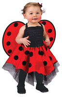 GIRLS TODDLER BABY LADY BUG LADYBIRD FANCY DRESS UP COSTUME OUTFIT NEW 18-24 MTH