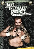 WWE JAKE THE SNAKE ROBERTS PICK YOUR POISON 2-Disc DVD World Wrestling w/ Book