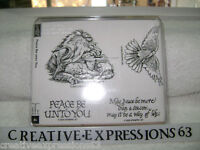 Stampin' Up 2005 Peace Be Unto You Set Of 4 B/N U/M