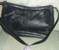 Black soft leather shoulder bag  Marks and Spencer