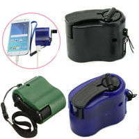 USB Cell Phone Emergency Hand Charger Manual Dynamo For MP4 MP3 PDA New