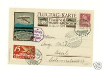 1924 Switzerland Flugtag Solothurn Early Airmail Cover