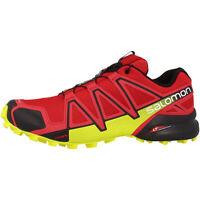 Salomon Speedcross 4 Men's Trail Running Shoes red black yellow 381154