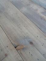 """Wide Reclaimed Pine Floorboards 12"""" WIDE Floor Boards resawn from seasoned beams"""