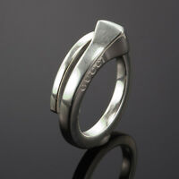GUCCI STERLING SILVER LADY'S WRAP RING size 6 made in Italy