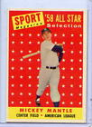 Ex.-Mt.+++ to Nr.-Mt.1958 Mickey Mantle Topps All-Star Baseball Card #487