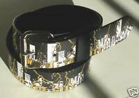 GOTH PUNK KING FOIL PRINTED LEATHER SNAP-ON BELT L 38