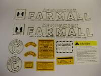 IH/ International / McCormick / Farmall Model Super C Tractor Decal Set