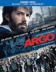 Argo (Blu-ray/DVD, 2013, 2-Disc Set, Includes Digital Copy UltraViolet) NEW